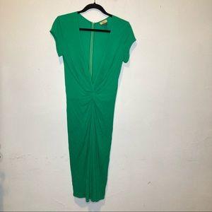 Issa London Green Plunge Twist Midi Dress 8